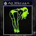 Sexy Lady Bending Over B 1 Decal Sticker Lime Green Vinyl 120x120