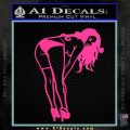Sexy Lady Bending Over B 1 Decal Sticker Pink Hot Vinyl 120x120