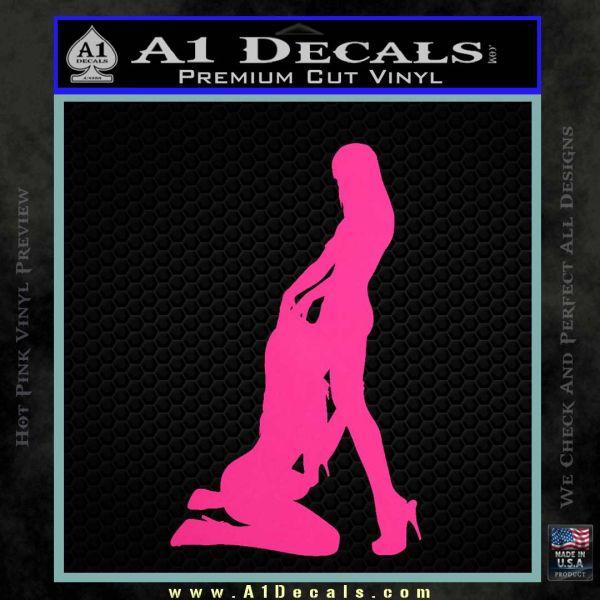 Sexy Lesbians Decal Sticker Pink Hot Vinyl