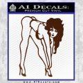 Sexy Race Girl Decal Sticker BROWN Vinyl 120x120