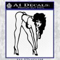 Sexy Race Girl Decal Sticker Black Vinyl 120x120