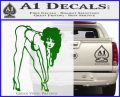 Sexy Race Girl Decal Sticker Green Vinyl Logo 120x97