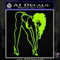 Sexy Race Girl Decal Sticker Lime Green Vinyl 120x120