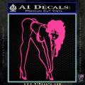 Sexy Race Girl Decal Sticker Pink Hot Vinyl 120x120