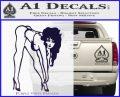 Sexy Race Girl Decal Sticker PurpleEmblem Logo 120x97