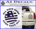 Some Gave All Decal Sticker Purple Vinyl 120x97