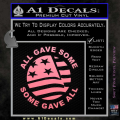 Some Gave All Decal Sticker Soft Pink Emblem 120x120