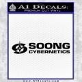 Soong Cybernetics Star Trek Decal Sticker Black Vinyl 120x120