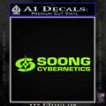 Soong Cybernetics Star Trek Decal Sticker Neon Green Vinyl 120x120