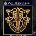 Special Forces Crest D2 Decal Sticker Gold Vinyl 120x120