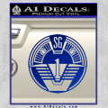 Star Gate SG1 Logo Decal Sticker Blue Vinyl 120x120