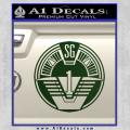 Star Gate SG1 Logo Decal Sticker Dark Green Vinyl 120x120