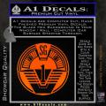 Star Gate SG1 Logo Decal Sticker Orange Emblem 120x120
