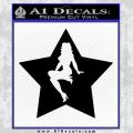 Star Pinup Decal Sticker Black Vinyl 120x120