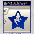 Star Pinup Decal Sticker Blue Vinyl 120x120