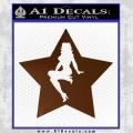 Star Pinup Decal Sticker Brown Vinyl 120x120
