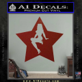 Star Pinup Decal Sticker DRD Vinyl 120x120