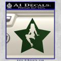 Star Pinup Decal Sticker Dark Green Vinyl 120x120