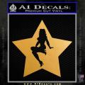 Star Pinup Decal Sticker Gold Metallic Vinyl 120x120