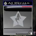 Star Pinup Decal Sticker Grey Vinyl 120x120