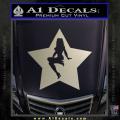 Star Pinup Decal Sticker Metallic Silver Vinyl 120x120