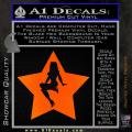 Star Pinup Decal Sticker Orange Emblem 120x120