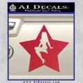 Star Pinup Decal Sticker Red Vinyl 120x120