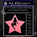 Star Pinup Decal Sticker Soft Pink Emblem 120x120