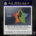 Star Pinup Decal Sticker Spectrum Vinyl 120x120