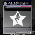 Star Pinup Decal Sticker White Vinyl 120x120