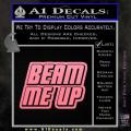 Star Trek Beam Me Up Decal Sticker Soft Pink Emblem 120x120