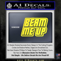 Star Trek Beam Me Up Decal Sticker Yellow Vinyl 120x120