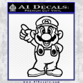 Super Mario Decal Sticker Black Standing Decal Sticker Black Vinyl 120x120