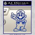 Super Mario Decal Sticker Standing Decal Sticker Blue Vinyl 120x120