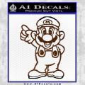 Super Mario Decal Sticker Standing Decal Sticker Brown Vinyl 120x120