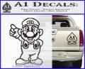 Super Mario Decal Sticker Standing Decal Sticker CFB Vinyl 120x97
