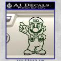 Super Mario Decal Sticker Standing Decal Sticker Dark Green Vinyl 120x120