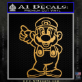 Super Mario Decal Sticker Standing Decal Sticker Gold Metallic Vinyl 120x120