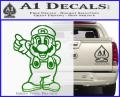 Super Mario Decal Sticker Standing Decal Sticker Green Vinyl 120x97