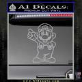 Super Mario Decal Sticker Standing Decal Sticker Grey Vinyl 120x120