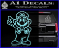 Super Mario Decal Sticker Standing Decal Sticker Light Blue Vinyl 120x97