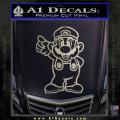 Super Mario Decal Sticker Standing Decal Sticker Metallic Silver Vinyl 120x120