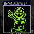 Super Mario Decal Sticker Standing Decal Sticker Neon Green Vinyl 120x120