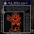 Super Mario Decal Sticker Standing Decal Sticker Orange Emblem 120x120