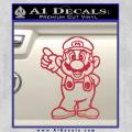 Super Mario Decal Sticker Standing Decal Sticker Red Vinyl 120x120
