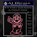 Super Mario Decal Sticker Standing Decal Sticker Soft Pink Emblem 120x120