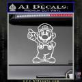 Super Mario Decal Sticker Standing Decal Sticker White Vinyl 120x120