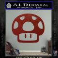 Super Mario Mushroom Decal Sticker D1 DRD Vinyl 120x120
