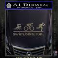 Swim Bike Run Triathlon Decal Sticker CFC Vinyl 120x120