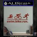 Swim Bike Run Triathlon Decal Sticker DRD Vinyl 120x120